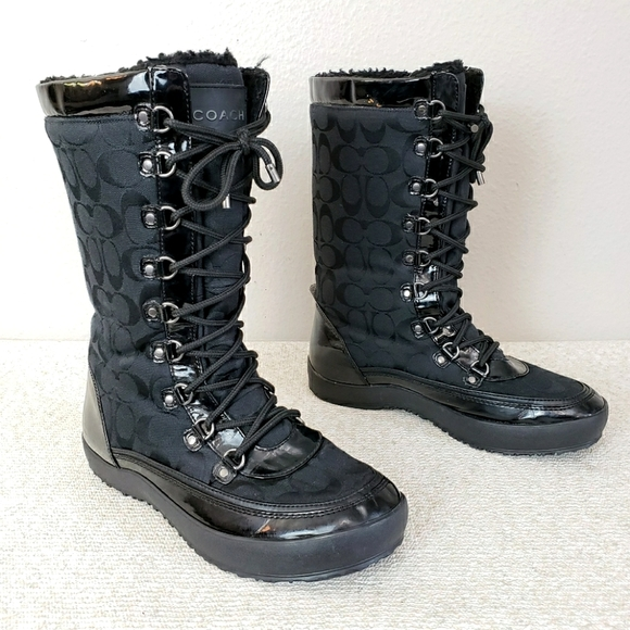 Coach Peggey Lace Up Boots